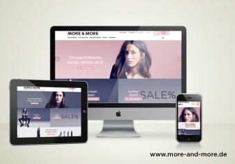 Responsive Design für den More & More Online Shop
