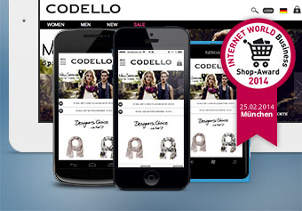 Prämiertes Mobile Design – Zweiter Platz für den Codello Shop bei den INTERNET WORLD Business Shop Awards